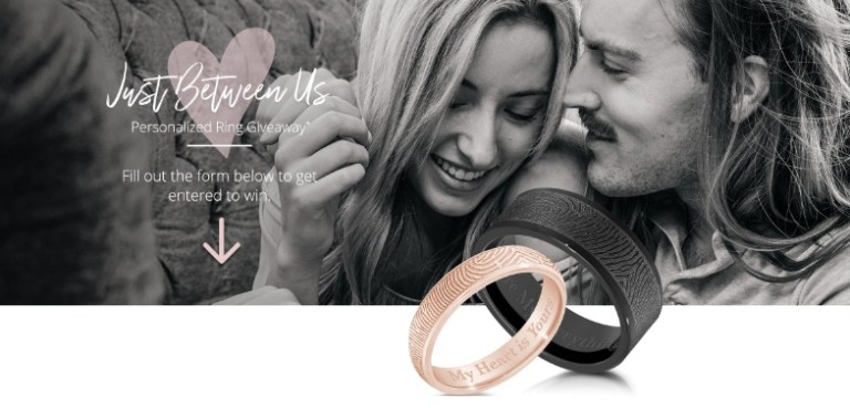 Truvalence Just Between Us Personalized Ring Giveaway