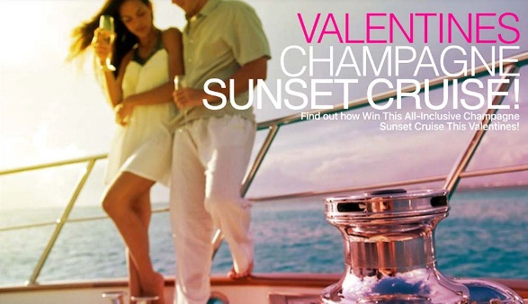 Valentines Champagne Sunset Cruise Sweepstakes