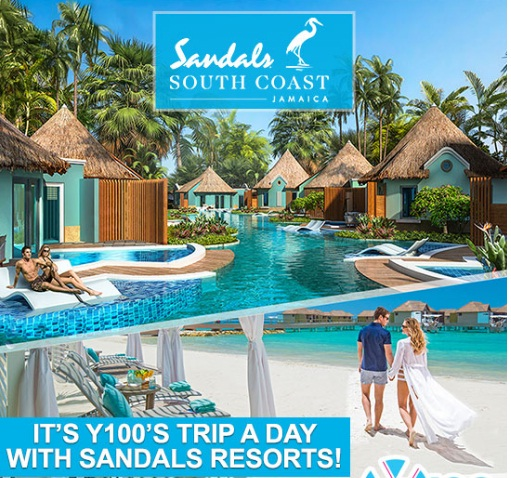 Y100 Trip A Day With Sandals Resorts Giveaway