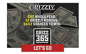 Grizzly Grizz365 Instant Win Game Sweepstakes