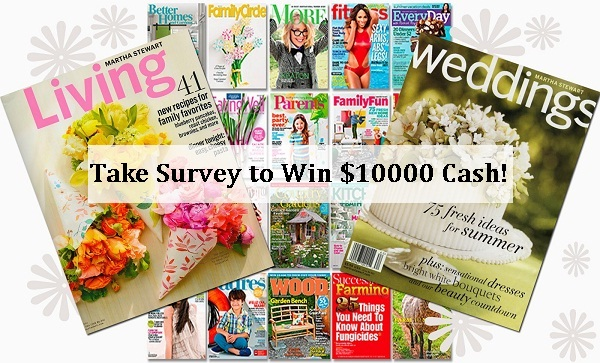 Meredith Magazines $10000 Reader Survey Sweepstakes