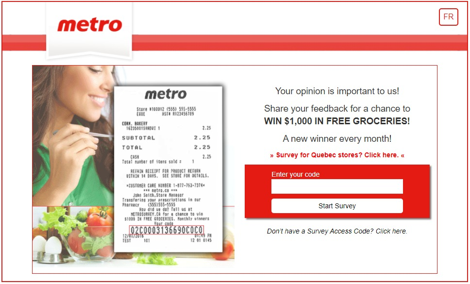 Metro Ontario Survey Contest