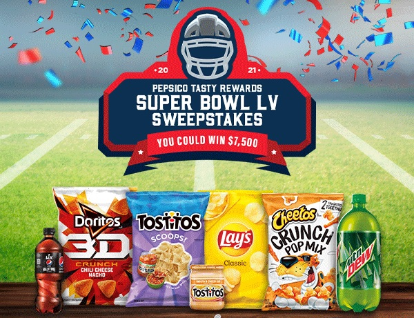 Tasty Rewards Super Bowl LV Sweepstakes