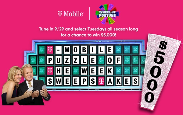 Wheel of Fortune T-Mobile Puzzle Sweepstakes