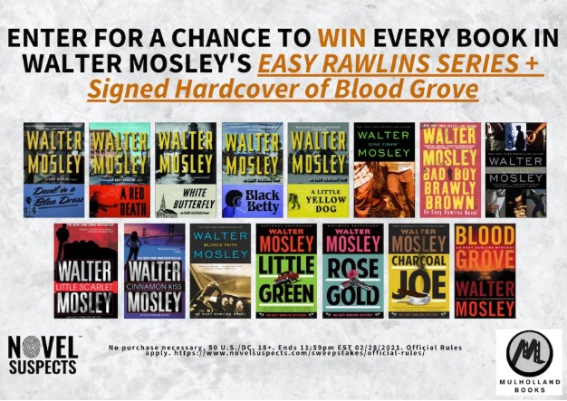 Novel Suspects Walter Mosley Easy Rawlins Series Giveaway