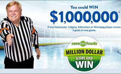 Save-On-Foods Million Dollar Score and Win Contest