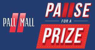 Pall Mall Pause for A Prize Sweepstakes