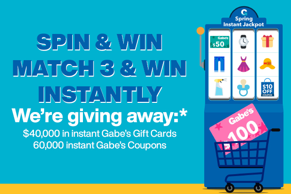 Gabe's Spring Instant Win Spin Game