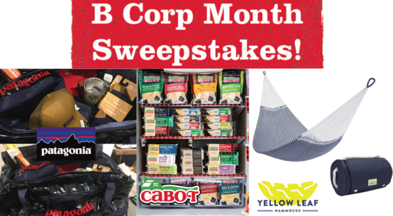Cabot Creamery B-Corp Month Sweepstakes