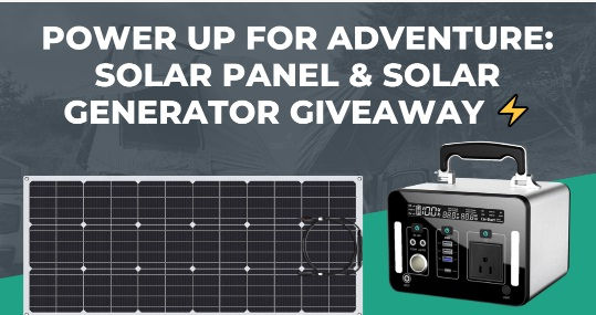 Torro Offroad Solar Panel And Solar Generator Giveaway