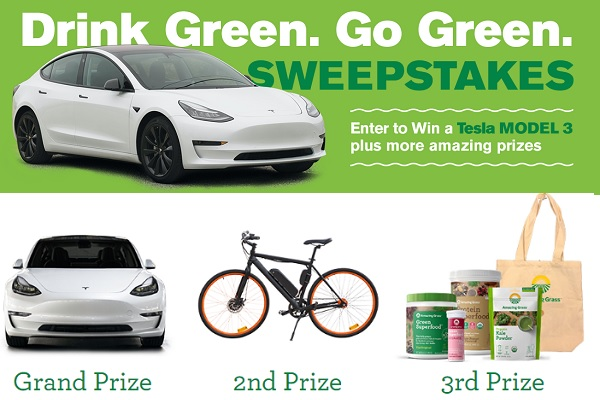 Amazing Grass Drink Green Go Green Sweepstakes