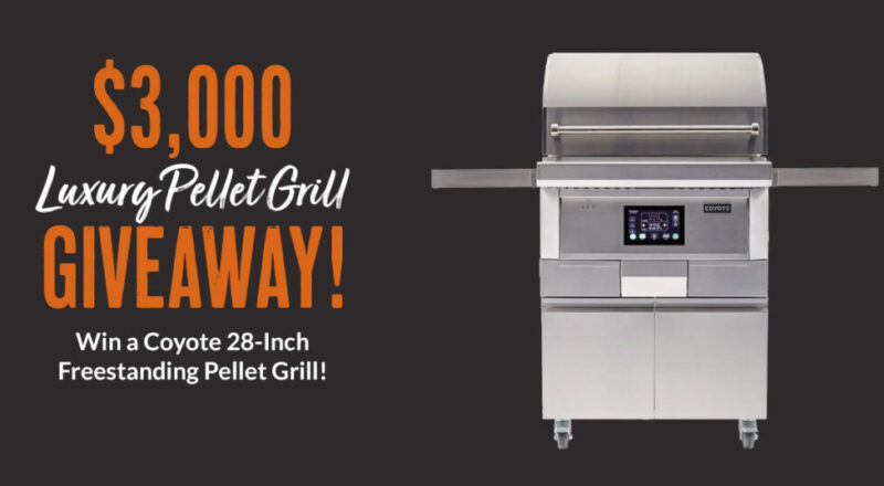BBQGuys $3000 Coyote Luxury Pellet Grill Giveaway