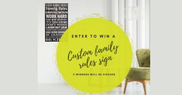 Family Signs Winter Giveaway