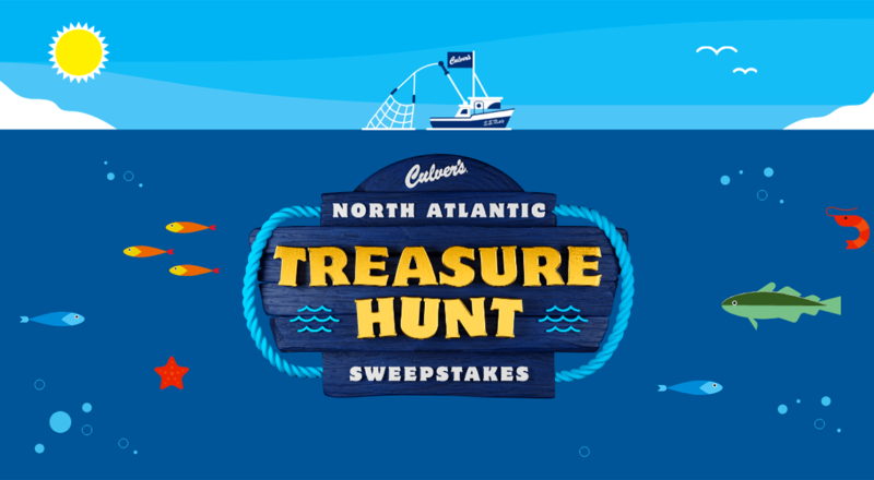 Culvers North Atlantic Treasure Hunt Sweepstakes