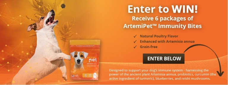 Animal Wellness Magazine ArtemiPet Immunity Bites Contest