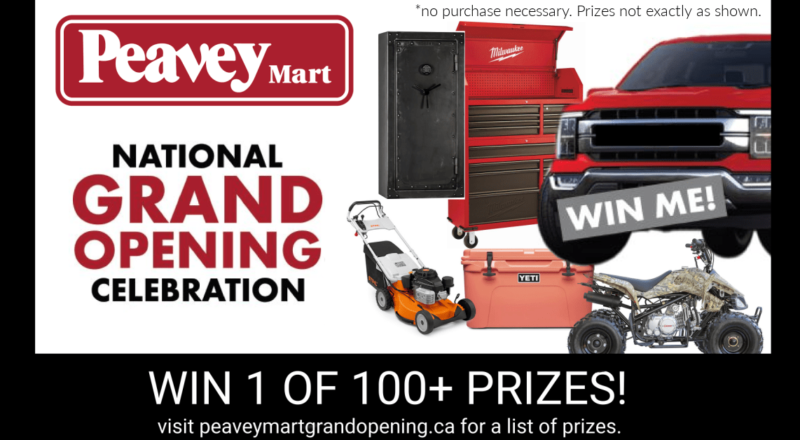 Peavey Mart Grand Opening Contest