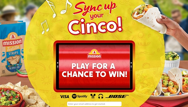 Mission Foods Cinco De Mayo Instant Win game