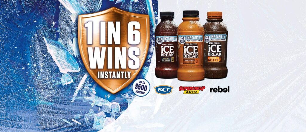 Ice Break 1 In 6 Wins Competition Contest