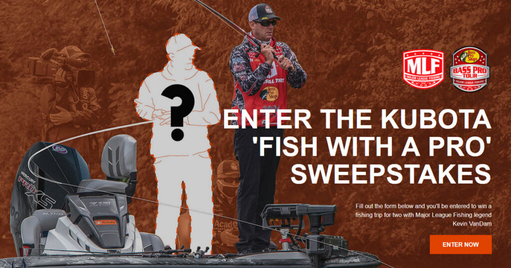 Kubota Fish With A Pro Sweepstakes