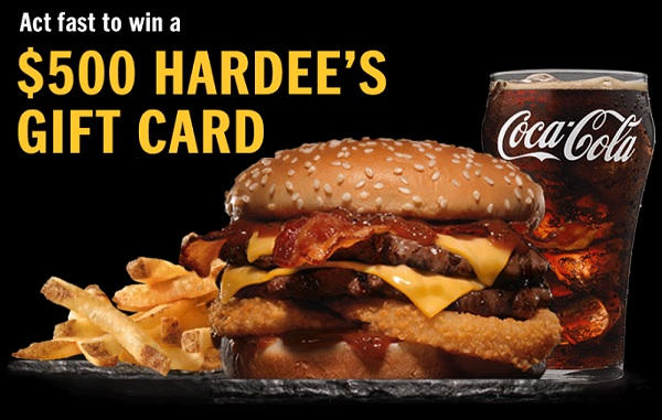 Hardees Free Gift Card Giveaway