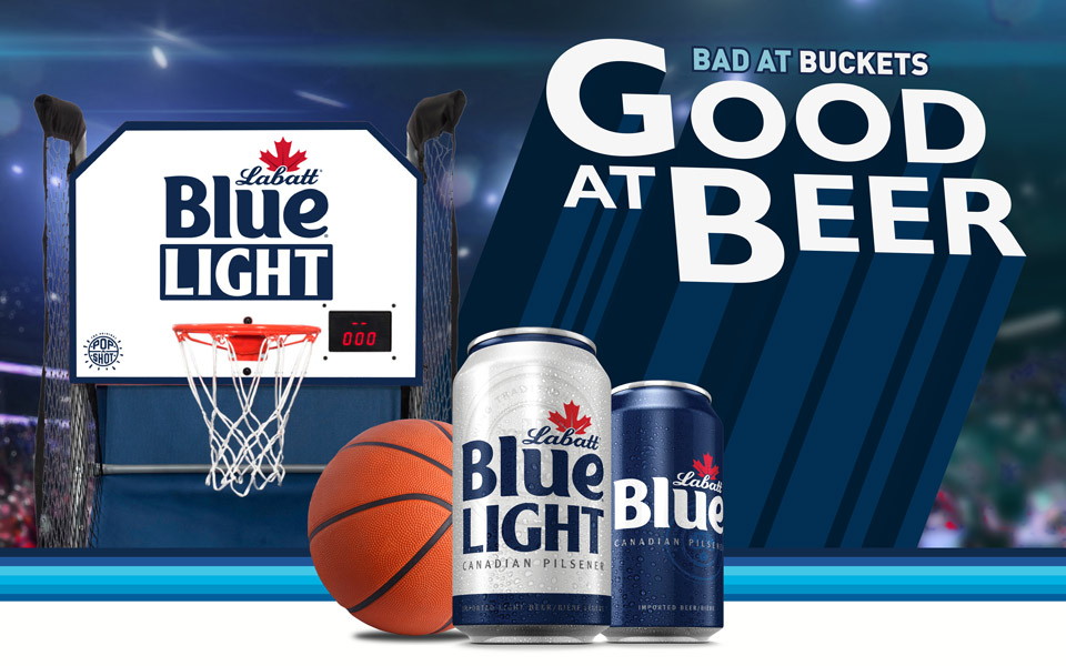 Labatt Blue Light Bad At Buckets Sweepstakes