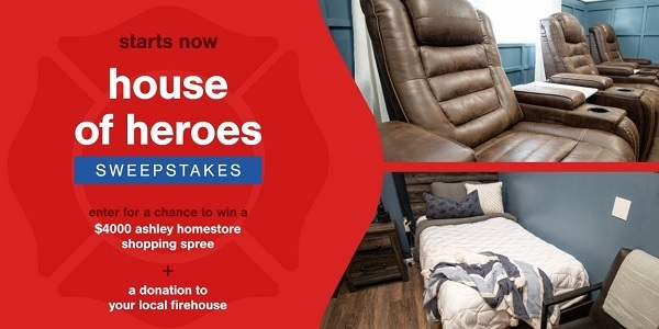 Ashley Homestore Firefighter Shopping Sweepstakes