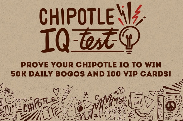 Chipotle IQ Sweepstakes