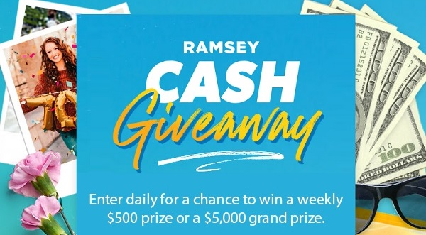Dave Ramsey Cash Giveaway