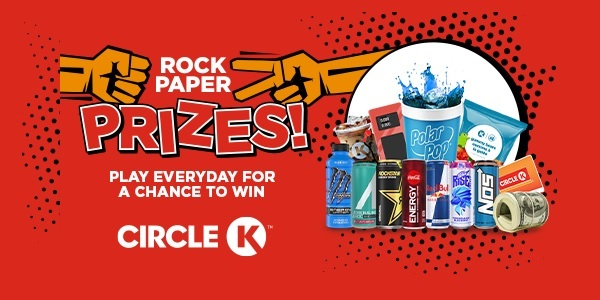 Circle K Rock Paper Prizes Instant Win Game and Sweepstakes