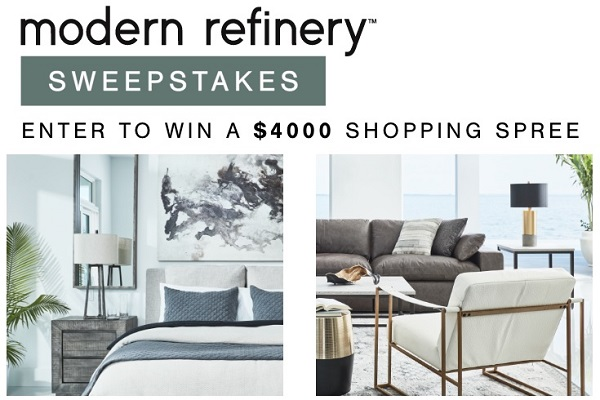 Modern Refinery Ashley Furniture Sweepstakes