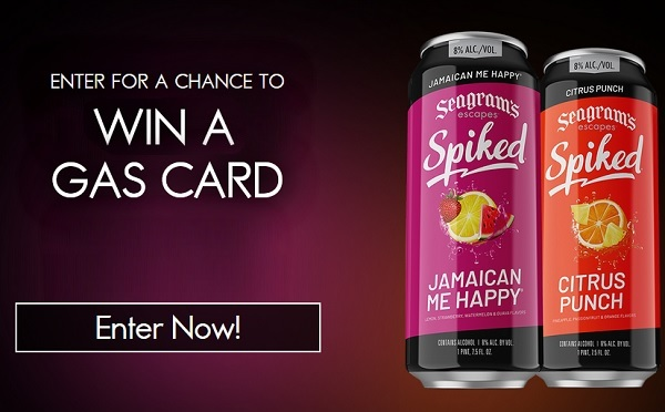 Seagrams Spiked Gas Card Instant Win Sweepstakes