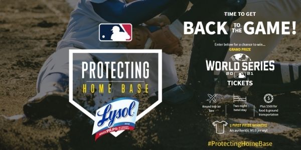 Lysol Protecting Home Base Sweepstakes