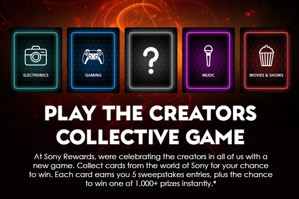 Sony Rewards Creators Collective Game Sweepstakes