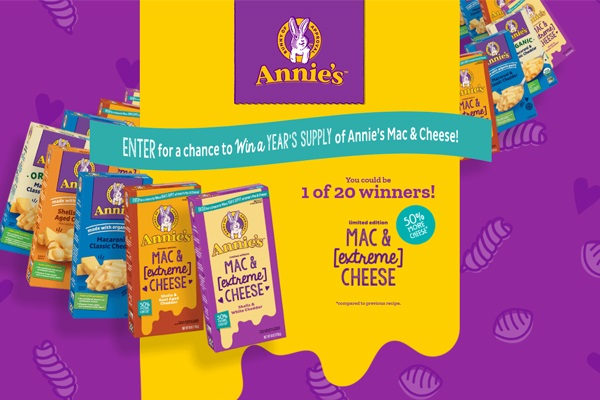 Annies Extremely Cheesy Sweepstakes