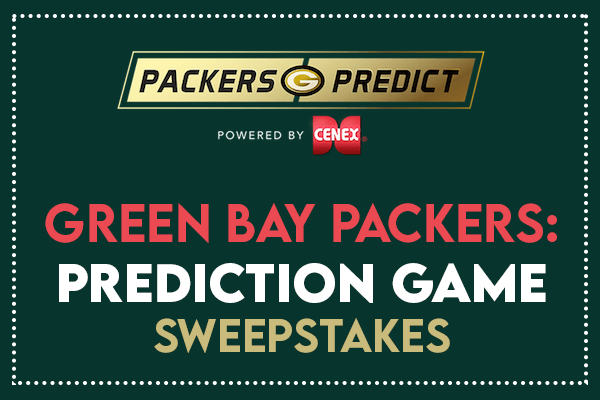 Green Bay Packers Prediction Game Sweepstakes