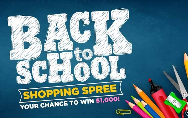 Back to School $1000 Shopping Spree Giveaway
