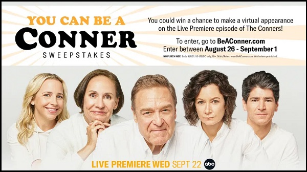 ABC You Can Be A Conner Sweepstakes